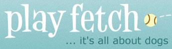 Dog website play fetch logo