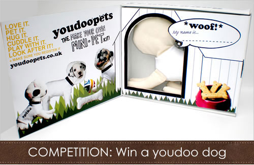 Win a youdoo dog make your own dog kit